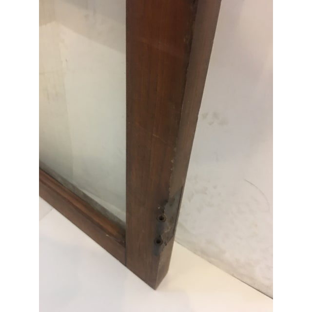 19th Century Philadelphia 2 Panel Walnut Wood Window For Sale In New York - Image 6 of 7