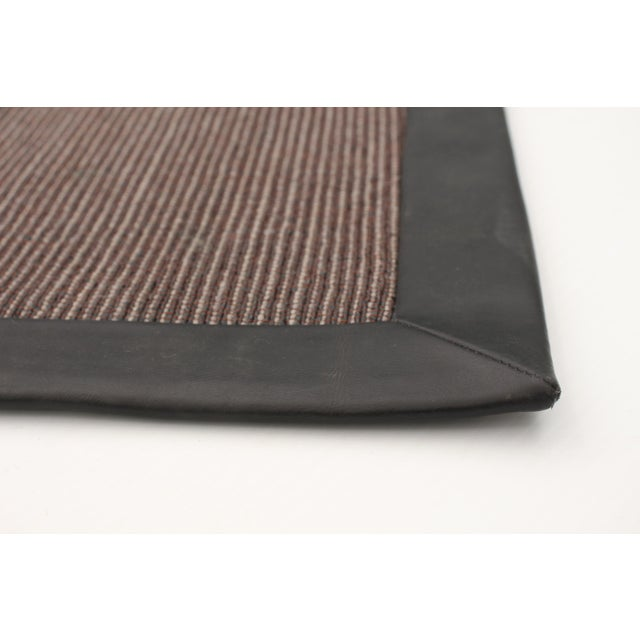 """Handmade Jute Black and Brown Rug-8'10"""" X 11'6"""" For Sale - Image 4 of 9"""