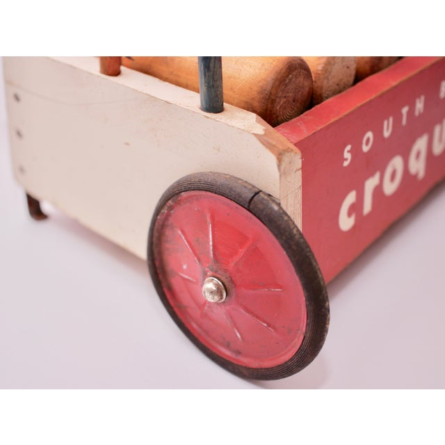 Mid Century South Bend Croquet Set For Sale - Image 4 of 12