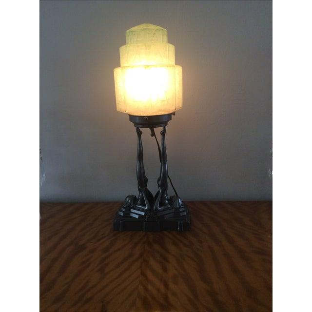 Original Frankart Art Deco Lamp - Image 6 of 6