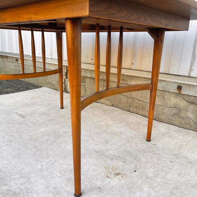 Mid-Century Dining Table With Two Leaves For Sale - Image 4 of 13