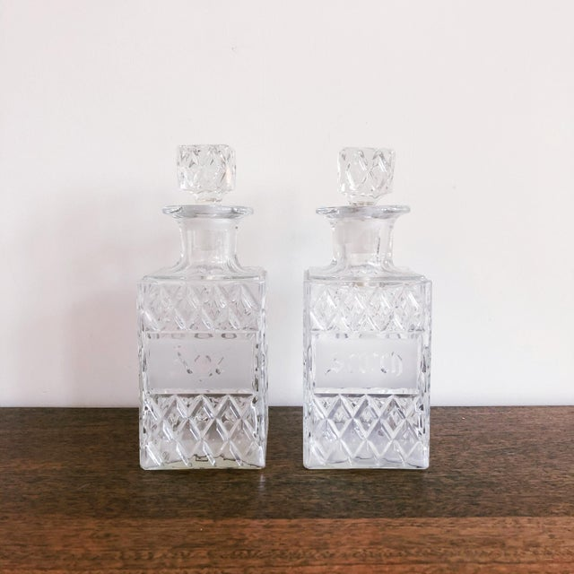 Transparent Vintage Crystal Scotch and Rye Decanters For Sale - Image 8 of 8