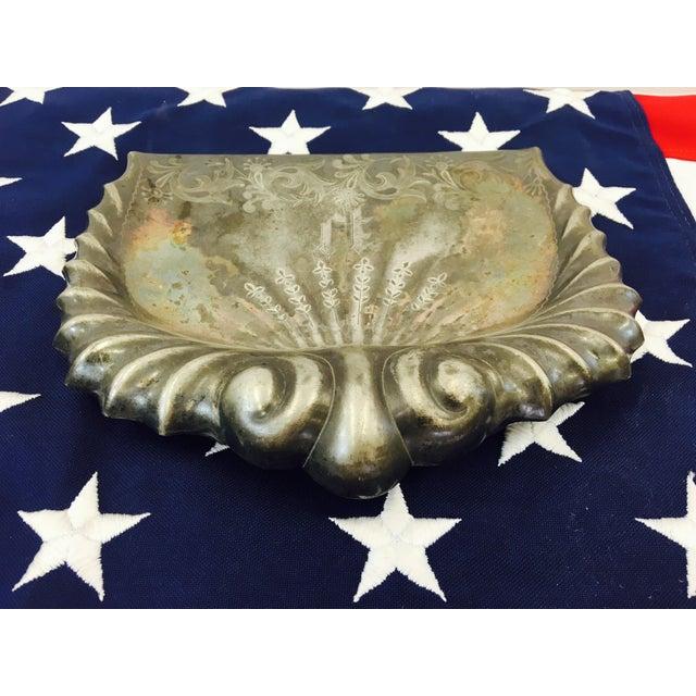 Antique Etched & Engraved Silver Butler's Set For Sale - Image 5 of 8