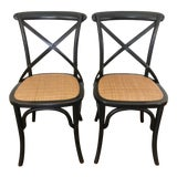 Image of Bentwood Bistro Side Chairs- A Pair For Sale