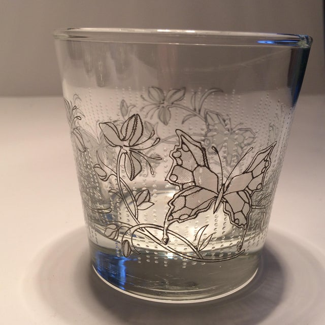 Vintage Butterfly Design Low Ball Glasses - Set of 6 - Image 5 of 11