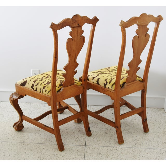 Italian Scalamandre Le Tigre (Tiger) Velvet Side Chairs - Pair For Sale - Image 9 of 13