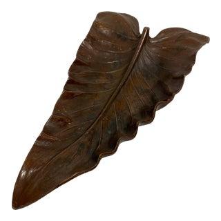 1940s Bronze Calla Lily Tray For Sale
