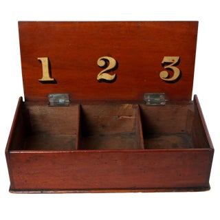 Handheld Antique American Ballot Box