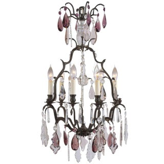 French Bronze Louis XVI Style, Versaille 5 Light Chandelier For Sale