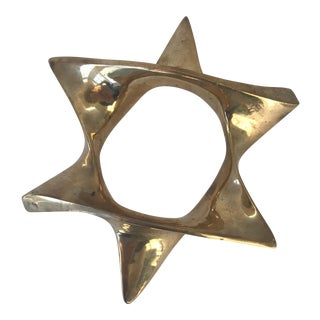 Vintage Brass Star Paper Weight