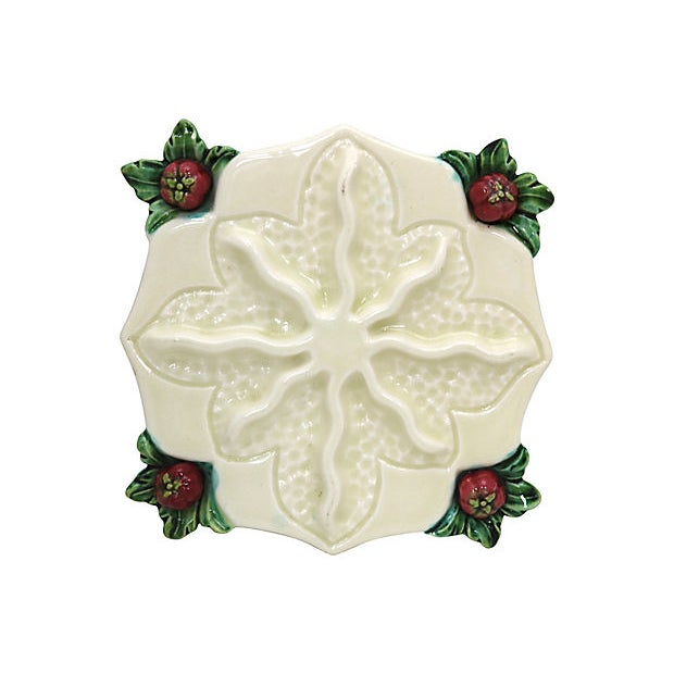 Majolica Vintage French Majolica Table Adornments, 13 Piece For Sale - Image 4 of 5