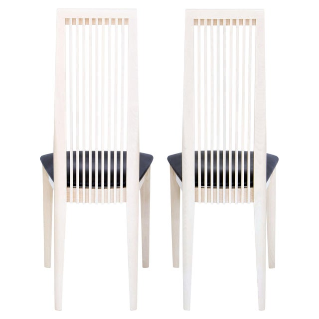 Late 20th Century Italian Potocco Tall Dining Chairs, Set of 6 For Sale - Image 5 of 10