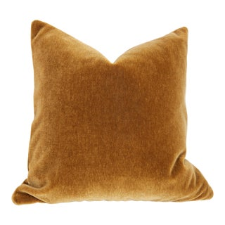 Cognac Angora Mohair Pillow Cover 18x18 For Sale