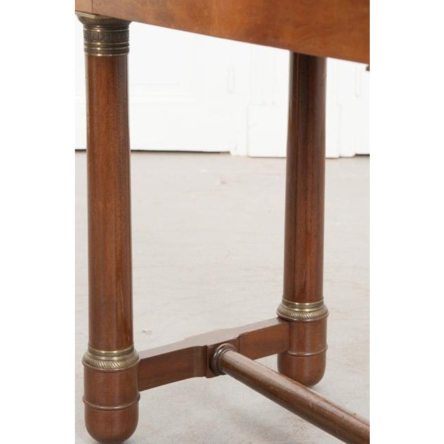 Early 20th Century French Empire Mahogany Marble Top Table For Sale - Image 10 of 13