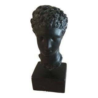 Bust of Head on Base For Sale