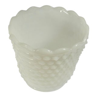 Vintage Fire King Milk Glass Cachepot For Sale
