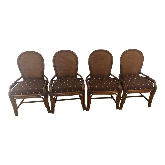 1980s Vintage Palecek Twisted Side Chair- Set of 4 For Sale
