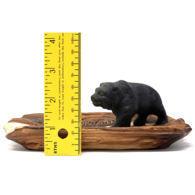 Black Vintage Great Smoky Mountains Ashtray With Black Bear For Sale - Image 8 of 9