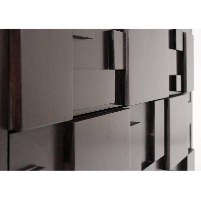 Brutalist Lacquered Brutalist Tall Cabinet or Chest by Lane Furniture For Sale - Image 3 of 11