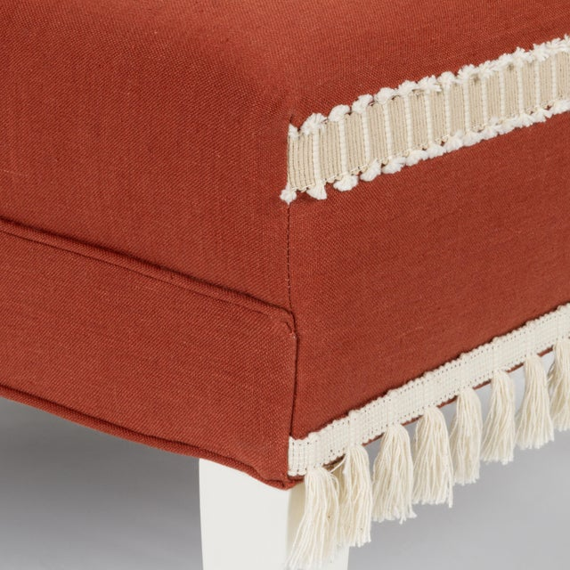 Textile Casa Cosima Sintra Chair in Paprika Linen For Sale - Image 7 of 10