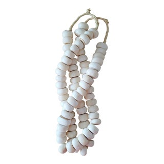 African Bone Bead Strands, 2 Piece For Sale