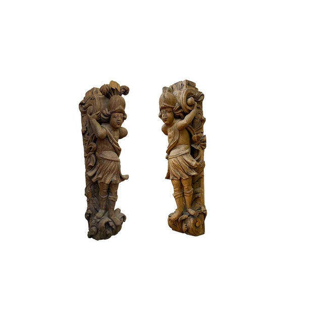 17th Century 17th Century Carved Italian Figures - a Pair For Sale - Image 5 of 6