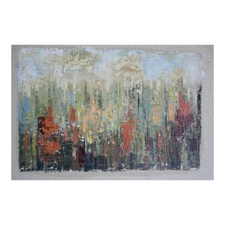 Abstract Palette Knife Colorful Painting For Sale