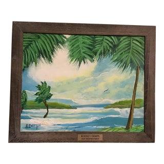 Contemporary Florida Landscape Highwaymen Oil Painting by Rodney Demps, Framed For Sale