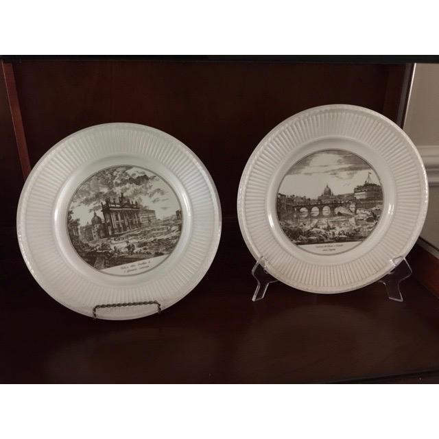 English Traditional Wedgwood Piranesi Plates - Set of 6 For Sale - Image 3 of 4