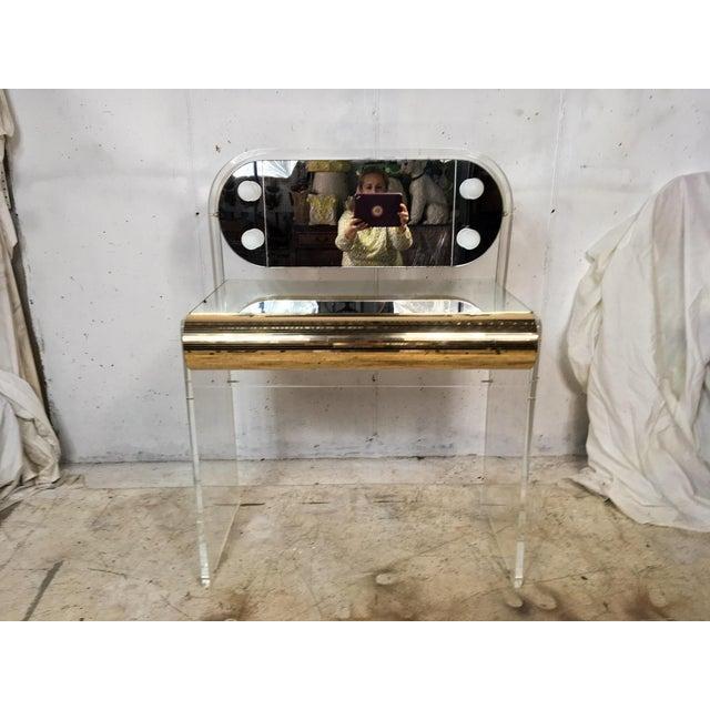Hollywood Regency Style Lucite Vanity - Image 2 of 4