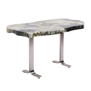 Chinese Meditation Stone Top Desk For Sale