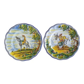 j.a. Froilan Talavera Plates - a Pair For Sale