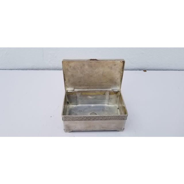 1980s Vintage Italian Vera Lucino Decorative Silver Plate Box For Sale - Image 11 of 12