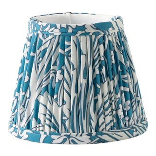 "Woodland 14"" Lamp Shade, Blue For Sale"