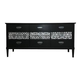 1960s Mid-Century Modern Black 9-Drawer Dresser For Sale
