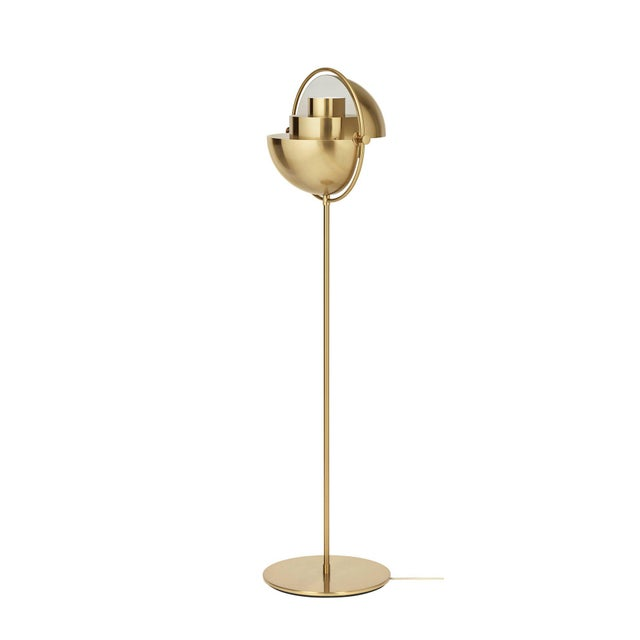 Louis Weisdorf 'Multi-Lite' floor lamp in chrome. Designed in 1972 by Weisdorf, this is an authorized re-edition by GUBI...