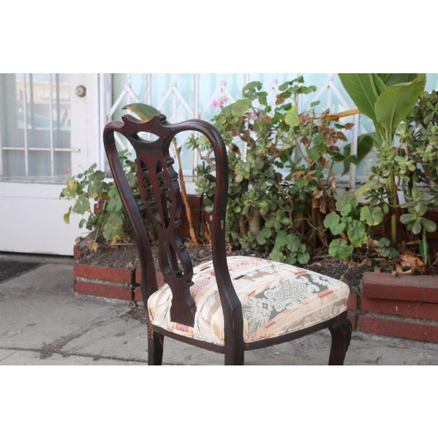 Wood Early 1900's Italian Low Chairs- A Pair For Sale - Image 7 of 9