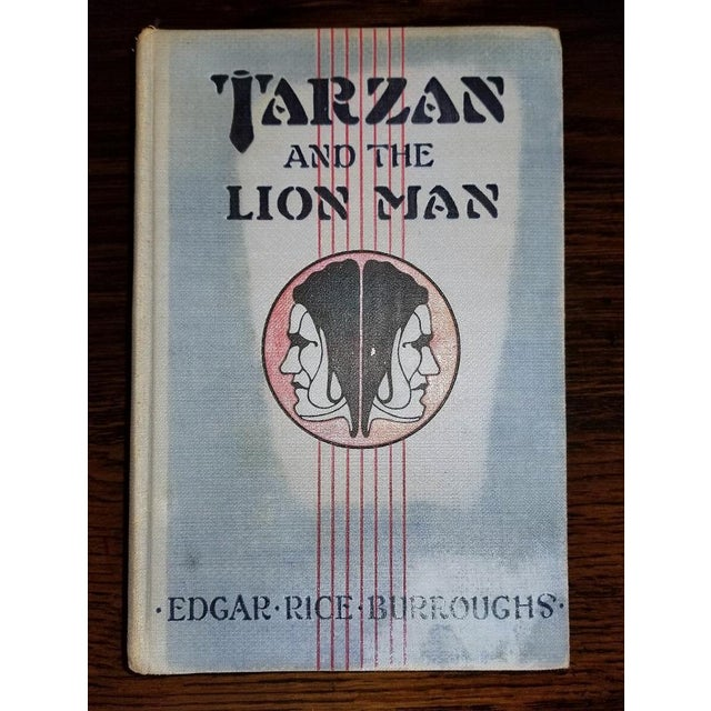 """Tarzan and the Lion Man"" 1st Edition Book by Edgar Rice Burroughs For Sale - Image 11 of 13"