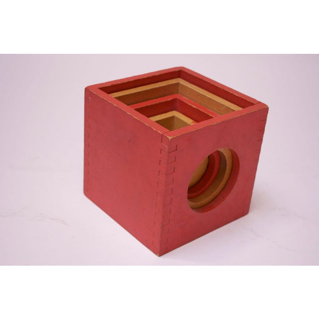 Mid-Century Modern Set of Four Vintage Nesting Cubes by Creative Playthings of Finland For Sale - Image 3 of 13