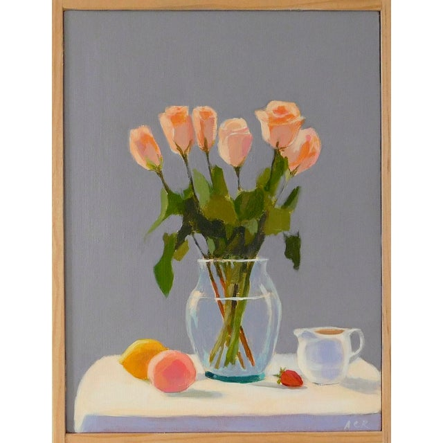 2010s Roses With Fruit and Creamer by Anne Carrozza Remick For Sale - Image 5 of 6