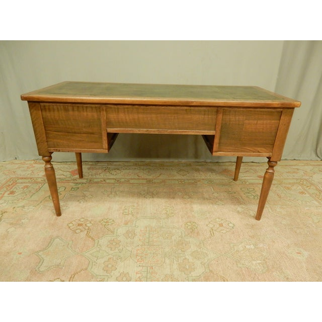 Wood 19th C. French Leather Top Desk For Sale - Image 7 of 12