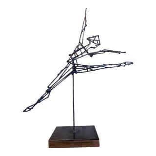1960s Vintage Metalwork Dancing Figure Sculpture For Sale