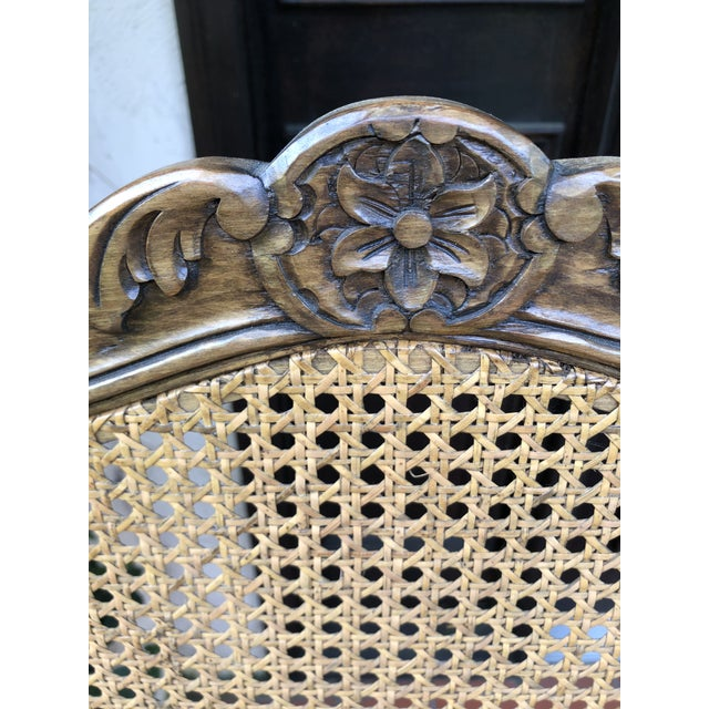 French Caned Chairs - a Pair For Sale - Image 9 of 12