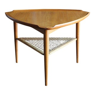 "Mid-Century Modern Kofod Larsen for Selig ""Guitar Pick"" Side Table"