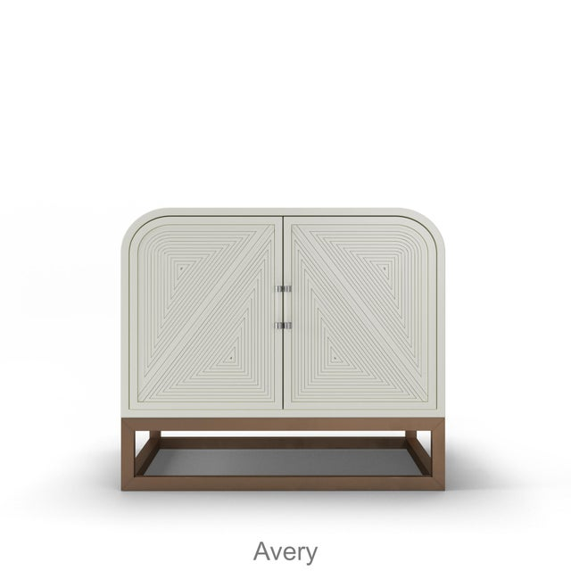 Avery Credenza - Summer Mist Blue For Sale - Image 4 of 5
