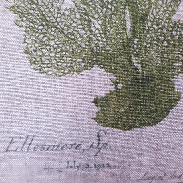 Green Green Botanical Bolster Pillow For Sale - Image 8 of 11