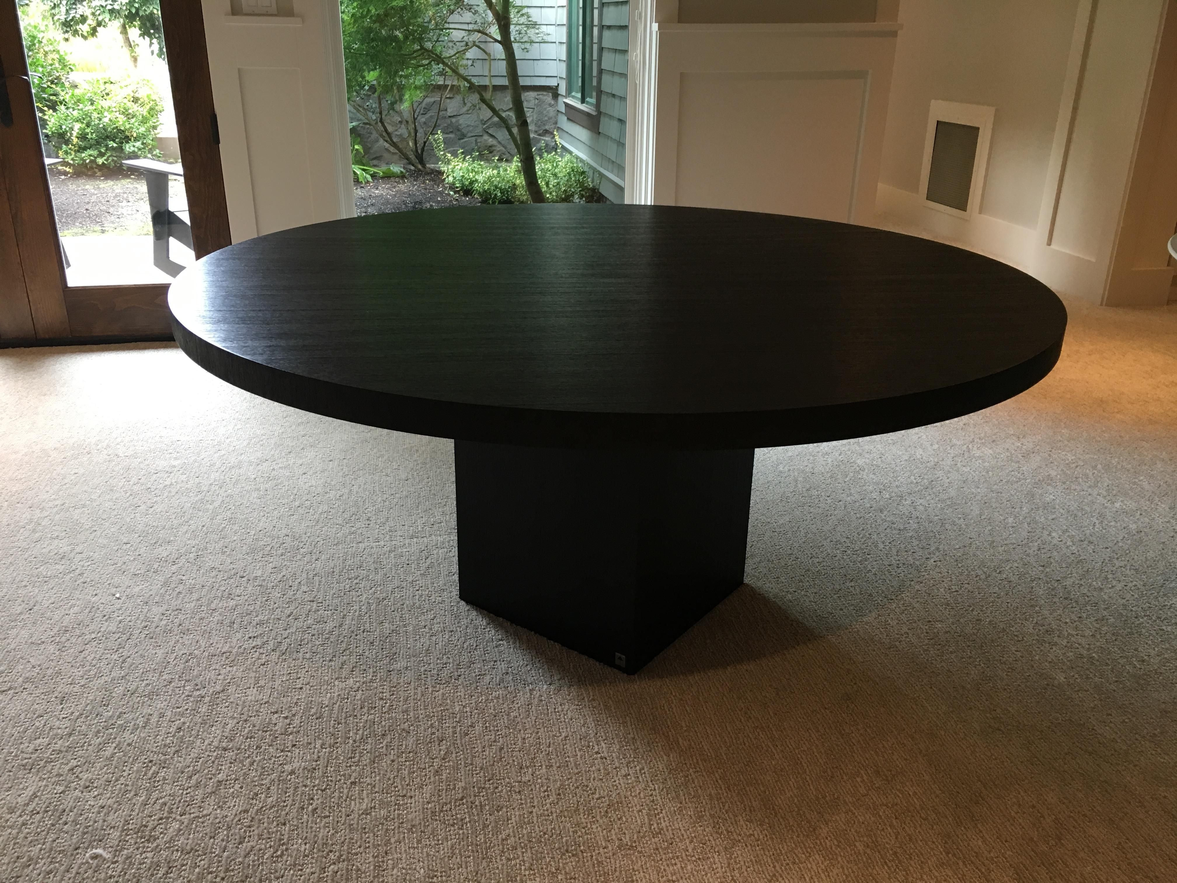 Armani Casa Black Round Dining Table   Image 7 Of 11
