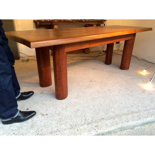 Andre Sol Solid Wood Long Table With Perriand Accent For Sale - Image 4 of 4