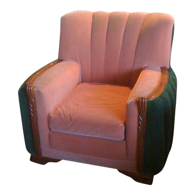 1920s Art Deco Club Chair - Image 1 of 3