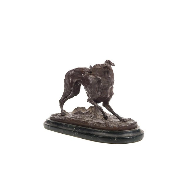 Pierre Jules Mêne Bronze Greyhound Whippet Figurine by P.J. Mene For Sale - Image 4 of 10